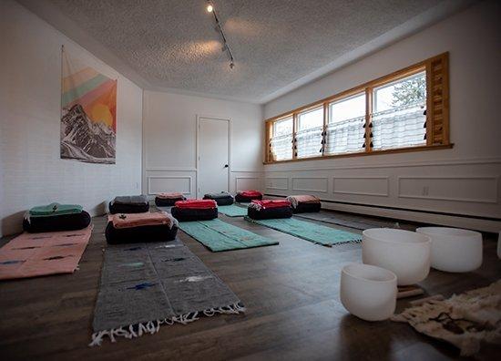 yoga floor