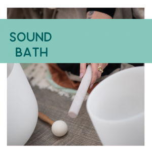 Customer image and description of sound bath class